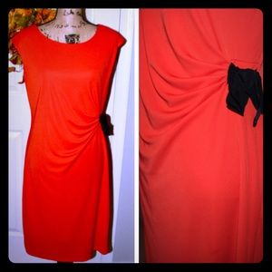 Gently worn  THE LIMITED Orange Cinched Dress 🍊